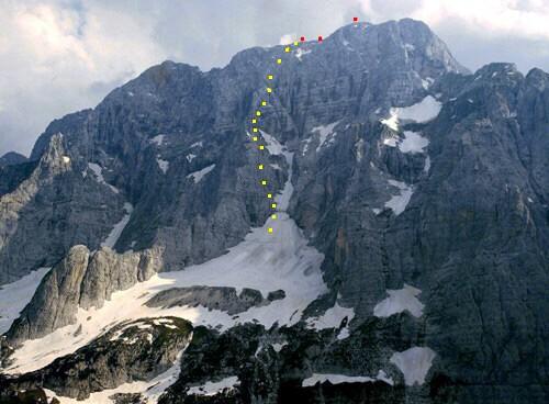mt22 Jof di Montasio versante Nord - tracciato