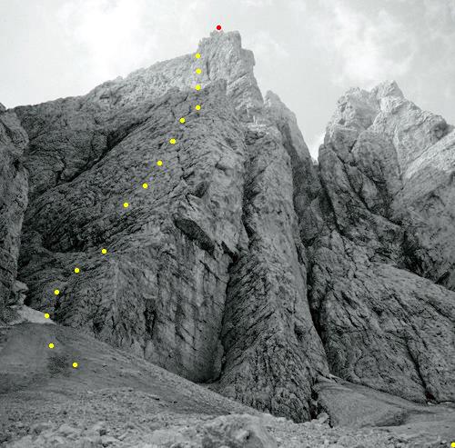 gs34 tracciato della salita